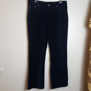 DG2 by Diane Gilman Velvet Cotton Stretchy Pants